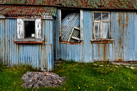 Blue Tin House. Achlyness. Loch Inchard. Sutherland. Scotland.