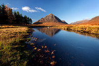 Buachaille Etive Mor. Tranquil Weather. Glencoe. Scotland.