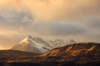 Cuillin at Sunset, from Tokavaig. Sleat. Isle of Skye. Scotland.