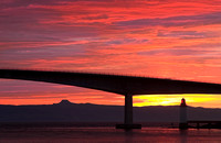 Skye Bridge and Raasay Sunset,  from Kyleakin, Isle of Skye, Scotland.