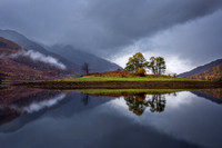 Loch Leven Reflections. Glencoe. Western Highlands. Scotland.