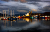 Kyleakin Harbour. Storm Light in Summer. Isle of Skye. Scotland.