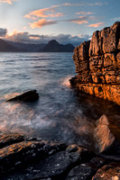 Elgol. Late Summer Sunset. Loch Scavaig. High Tide. Isle of Skye. Scotland.