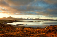 A Cuillin Sunset. Broadford Bay and Lusa. Isle of Skye. Scotland.