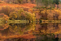 Loch Achaidh na h-Inich . Autumn Colours and Reflections. North West Scotland.