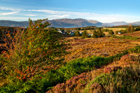 Drumbuie Village. Late Summer.Applecross Hills. Crofting Fields. North West Highlands. Scotland.