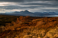 Cuillins and Broadford from the road to Kylerhea. Isle of Skye. Scotland.