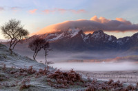 Blaven and Winter Mists. Kilbride by Torrin. Isle of Skye. Scotland.