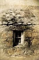 Cottage Window. Carnan. South Uist. Outer Hebrides. Scotland.
