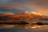 Beinn Sgritheall from Camus Cross. Sleat Peninsula. Isle of Skye. Scotland.
