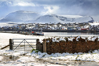 Island of Hoy from Stromness. Orkney Mainland. Northern Isles. Scotland.