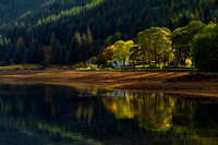 Loch Duich, Autumnal Light and reflections. Kintail. North West Highlands. Scotland.