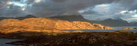 A Torridon Pano. Loch Shieldaig.  60in x 20in. Wester Ross. Scottish Highlands.