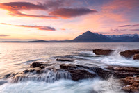 Elgol Sunset and Waves. Loch Scavaig. Isle of Skye. Scotland.
