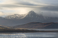 Ben Loyal from Skinnet. Morning Light. Sutherland. Scotland.