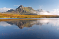 Ben Loyal Reflection. Lochan Hakel. Tongue. Sutherland. Scotland.