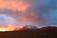 Ben Mor Coigach. Winter Sunset. North West Geopark. Scotland.