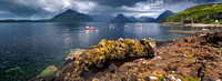 Elgol Pano in July. 30 x 11 ins. Loch Scavaig. Isle of Skye. Scotland.