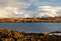 Cuillins from Oronsay Island. Winter. Ullinish. Isle of Skye. Scotland.