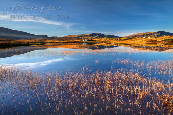 Ellishadder and Loch Mealt. Trotternish. Isle of Skye. Scotland.