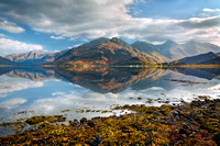 Five Sisters of Kintail in early November. Loch Duich. North West Highlands. Scotland.