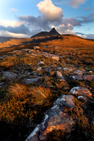 Aird of Coigach. Stac Pollaidh. Last Light.  North West Geopark. Scotland.