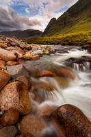 Glen Etive River Boulders . West Highlands of Scotland.