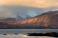 Cuillin at Sunset. Winter. Isle of Skye. Scotland.