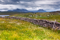 Foinaven and Arkle. Summer. Sutherland. Highland Scotland.
