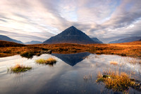 Buachaille Etive Mor.  Reflection. Glencoe. Scotland.