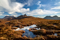 Aird of Coigach. Skies over Druim Bad a' Ghaill. North West Geopark. Scotland.