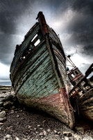 Abandoned Boats. Salen. Isle of Mull. Inner Hebrides. Scotland.