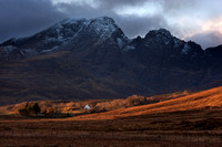 Blaven , storm brewing. Strath Suardal. Isle of Skye. Scotland.