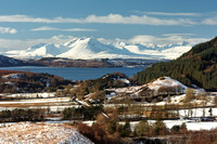 Auchtertyre. Isle of Skye in Winter. Lochalsh. Scottish Highlands.