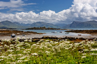 Armadale. View to the mainland in Summer. Sleat Peninsula. Isle of Skye. Scotland.