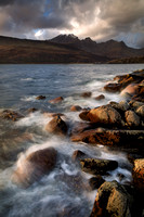 Camus Malag, waves and rocks. Torrin. Isle of Skye. Scotland.