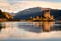 Eilean Donan Castle. Cloud vignette. Loch Duich. North West Highlands. Scotland.