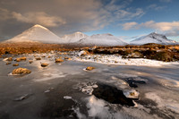 Red Cuillin at Sligachan in February. Isle of Skye. Scotland.