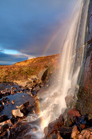 Applecross Peninsula . Waterfall and Rainbow. North West Highlands. Scotland.