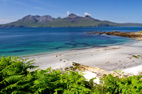 Singing Sands in Summer. Isle of Eigg. Scottish Highlands and Islands.