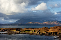 Tarskavaig Bay. Clouds over Cuillins. Sleat. Isle of Skye. Scotland.