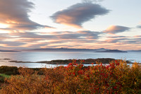 Isle of Raasay from The Ploc. Autumn Sunset. Kyle of Lochalsh. Highland Scotland.