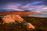 Achiltibuie in evening light. Coigach. North West Geopark. Scotland.