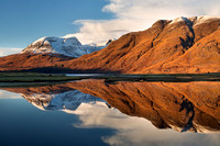 Beinn Alligin. Torridon. Reflection. Wester Ross. Scotland.