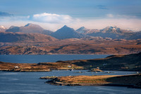 An Teallach across Tanera Mor from Polbain, Coigach. North West Scotland.
