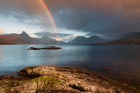 Loch Bad a Ghaill Rainbow. Coigach. North West Geopark. Highland Scotland.