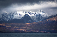 The Cuillin from Tokavaig. Fleeting Light. Isle of Skye. Inner Hebrides. Scotland.