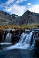 Fairy Pools in January. Minimal Sunlight. Allt Coire a Mhadaidh.  Glen Brittle. Isle of Skye. Scotland.